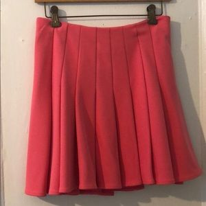 H & M Fuchsia pleaded mini skirt